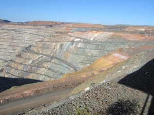 The Super Pit - mine trucks weigh 22 tonnes and carry just under 4,000 l of fuel.