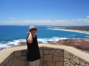 Looking back towards Kalbarri from Red Bluff