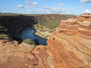 Beautiful sandstone formations at The Loop